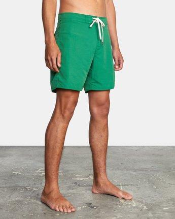 "4 Stanton Boardshort 17"" Green AVYBS00145 RVCA"