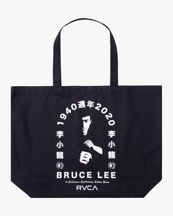 2 BRUCE LEE EIGHTY YEARS TOTE BAG Black AVYBT00108 RVCA