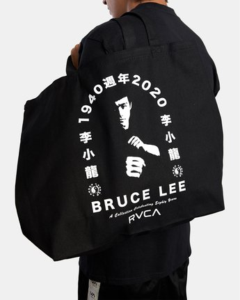 1 BRUCE LEE EIGHTY YEARS TOTE BAG Black AVYBT00108 RVCA