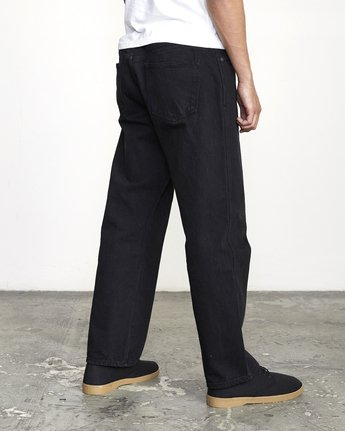 6 BAKERVCA AMERICANA RELAXED FIT DENIM Black AVYDP00100 RVCA