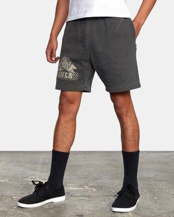 5 Jesse Brown Sweatshorts Black AVYFB00124 RVCA