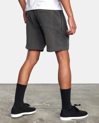 6 Jesse Brown Sweatshorts Black AVYFB00124 RVCA
