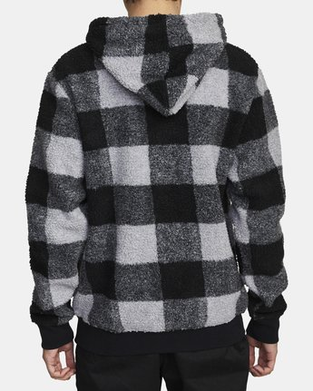 2 ELLS PLAID SHERPA HOODIE Orange AVYFT00100 RVCA