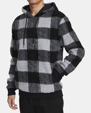 1 ELLS PLAID SHERPA HOODIE Orange AVYFT00100 RVCA
