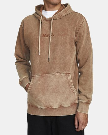 1 MINERAL HOODIE Brown AVYFT00111 RVCA