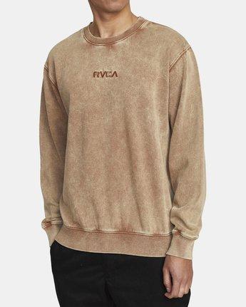 3 MINERAL CREW SWEATSHIRT Brown AVYFT00113 RVCA