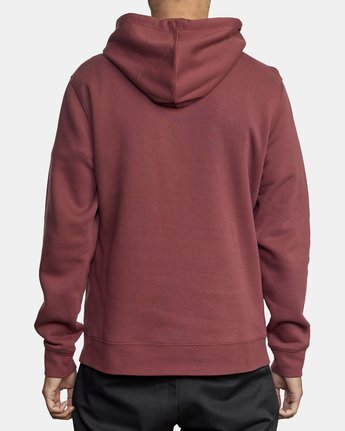 2 DIVIDED HOODIE Red AVYFT00130 RVCA