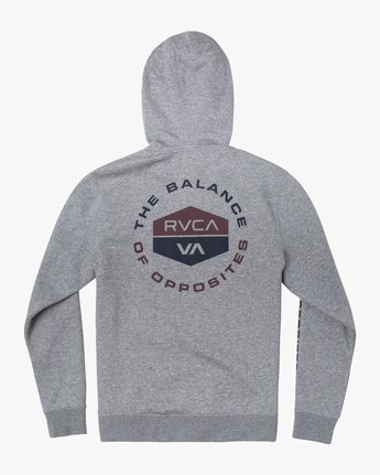 1 FOCUSED HOODIE Grey AVYFT00133 RVCA