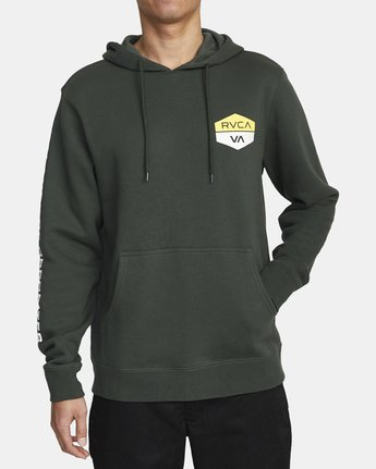 4 FOCUSED HOODIE Green AVYFT00133 RVCA