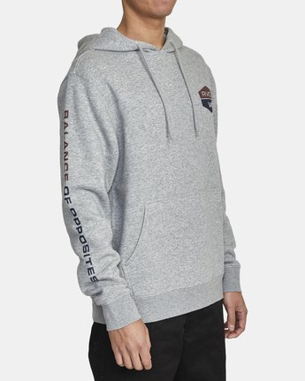 3 FOCUSED HOODIE Grey AVYFT00133 RVCA