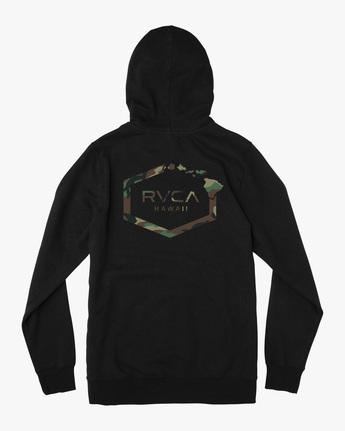 1 ISLAND HEX PULLOVER HOODIE Black AVYFT00175 RVCA