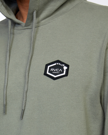4 ISLAND HEX PULLOVER HOODIE Green AVYFT00175 RVCA