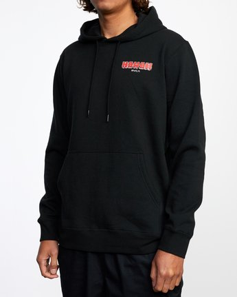 4 Welcome to Pipe PULLOVER HOODIE Black AVYFT00177 RVCA