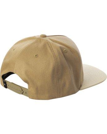1 RVCA SQUARE SNAPBACK HAT Multicolor AVYHA00152 RVCA