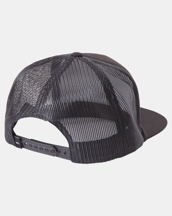 1 STAPLE FOAMY TRUCKER HAT Black AVYHA00153 RVCA