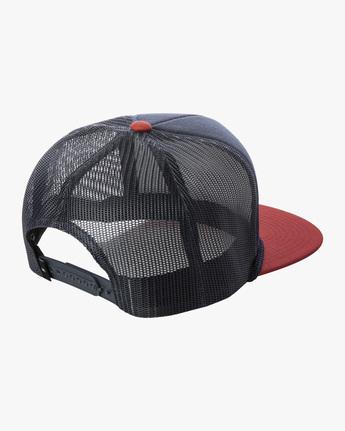1 STAPLE FOAMY TRUCKER HAT Blue AVYHA00153 RVCA