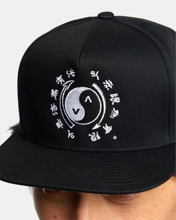 rvca, BRUCE LEE EIGHTY YEARS SNAPBACK HAT, BLACK (blk)
