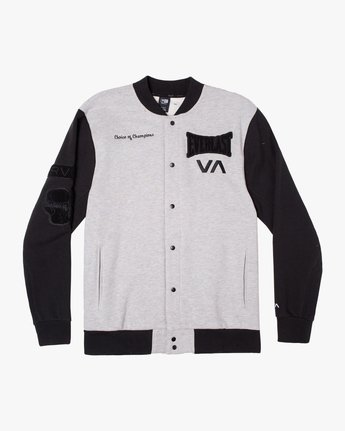 0 EVERLAST STADIUM FLEECE JACKET Grey AVYJK00119 RVCA