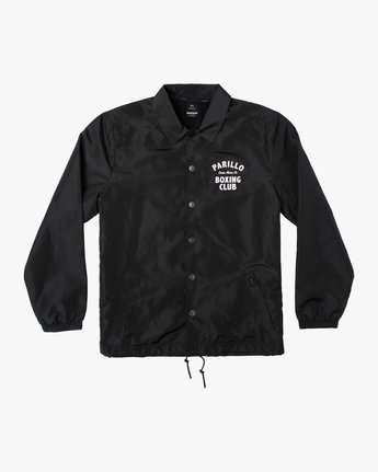 0 Parillo Boxing Coaches Jacket Black AVYJK00129 RVCA