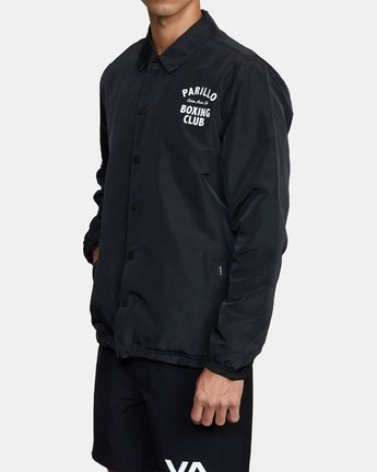 3 Parillo Boxing Coaches Jacket Black AVYJK00129 RVCA