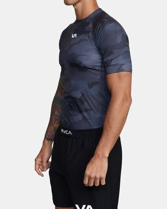 2 SPORT SHORT SLEEVE RASHGUARD Brown AVYKT00115 RVCA