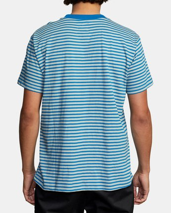 2 Pit Stop Short Sleeve Tee Blue AVYKT00148 RVCA
