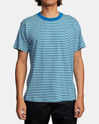 1 Pit Stop Short Sleeve Tee Blue AVYKT00148 RVCA