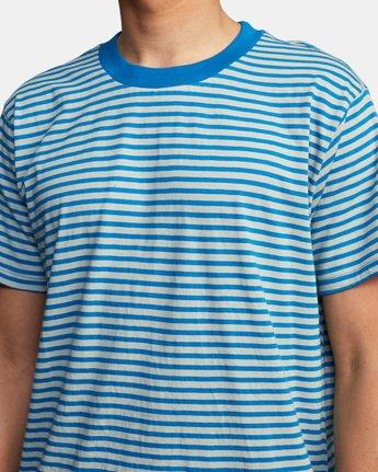 5 Pit Stop Short Sleeve Tee Blue AVYKT00148 RVCA