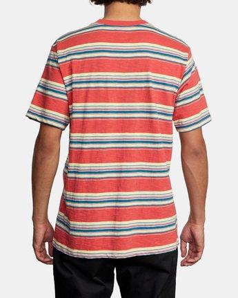 3 El Rosario Stripe Short Sleeve Tee White AVYKT00149 RVCA