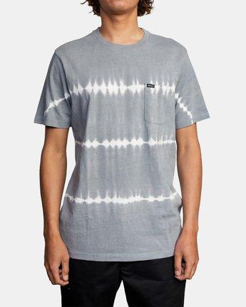 1 Manic Tie-Dye Stripe Short Sleeve Tee Grey AVYKT00153 RVCA