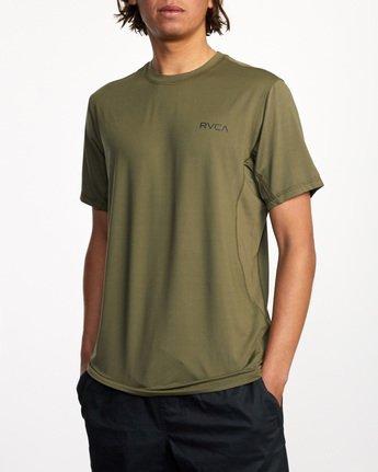 2 Balance Arc Performance Short Sleeve Tee Green AVYKT00174 RVCA