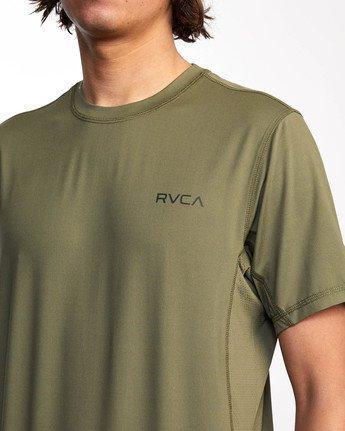 3 Balance Arc Performance Short Sleeve Tee Green AVYKT00174 RVCA