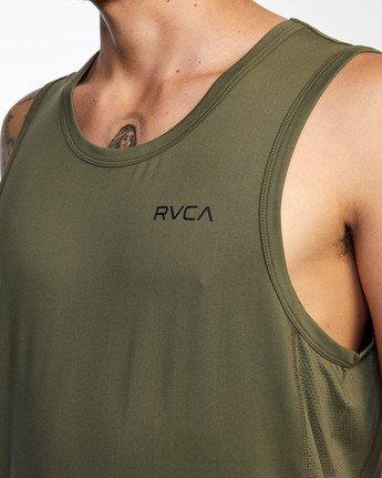 3 Balance Arc Performance Tank Top Green AVYKT00176 RVCA