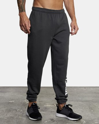 6 Heavyweight Sweatpant Black AVYNP00113 RVCA