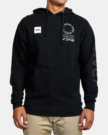 1 VA MARK Sport HOODIE Black AVYSF00124 RVCA