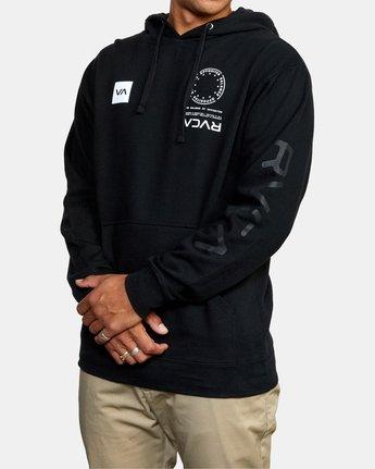 2 VA MARK Sport HOODIE Black AVYSF00124 RVCA