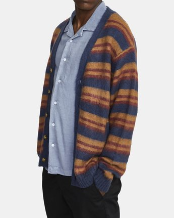 2 NOAH CARDIGAN sweater Blue AVYSW00100 RVCA