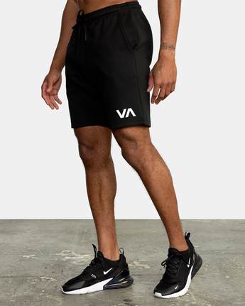 "3 VA SPORT IV SWEAT SHORT 19"" Black AVYWS00135 RVCA"