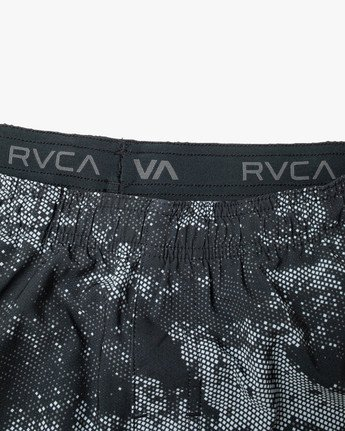 "11 YOGGER STRETCH RUNNING SHORTS 15"" Blue AVYWS00140 RVCA"