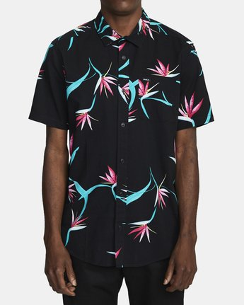 2 DREAM LAGOON SHORT SLEEVE SHIRT Black AVYWT00106 RVCA