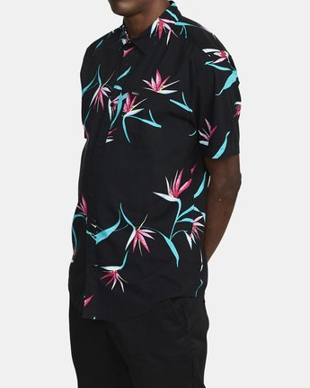 4 DREAM LAGOON SHORT SLEEVE SHIRT Black AVYWT00106 RVCA