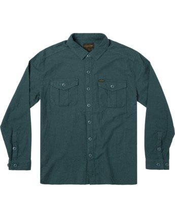 1 BAKERVCA SKATEBOARDS LONG SLEEVE FLANNEL Grey AVYWT00113 RVCA