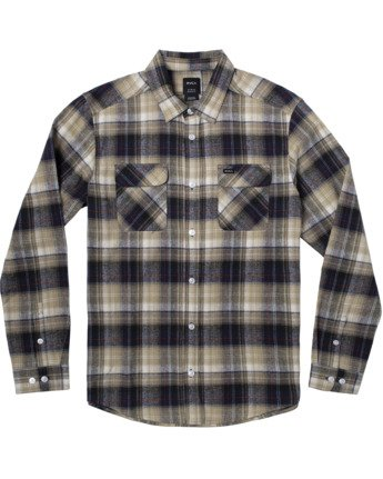 1 EMERSON FLANNEL LONG SLEEVE SHIRT Blue AVYWT00134 RVCA