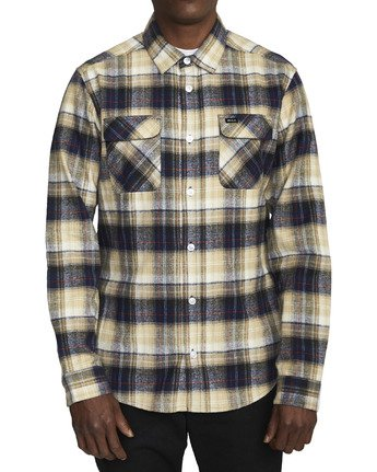 0 EMERSON FLANNEL LONG SLEEVE SHIRT Blue AVYWT00134 RVCA