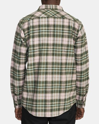 2 OPERATOR FLANNEL LONG SLEEVE SHIRT Green AVYWT00137 RVCA