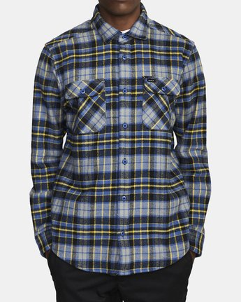 2 OPERATOR FLANNEL LONG SLEEVE SHIRT Multicolor AVYWT00137 RVCA