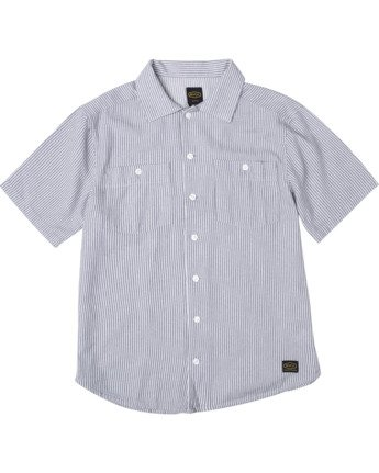 0 DAY SHIFT STRIPE SHORT SLEEVE SHIRT  AVYWT00146 RVCA