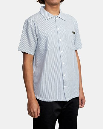 5 DAY SHIFT STRIPE SHORT SLEEVE SHIRT  AVYWT00146 RVCA