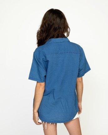 10 HEMP BEAT SHORT SLEEVE SHIRT Blue AVYWT00172 RVCA