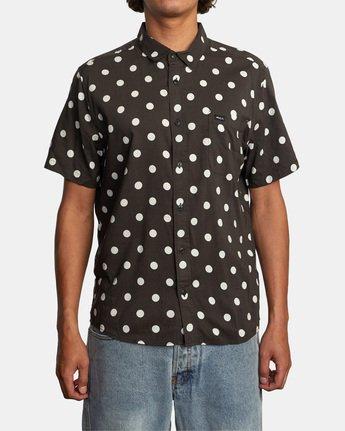 1 Whitworth Short Sleeve Shirt Black AVYWT00192 RVCA